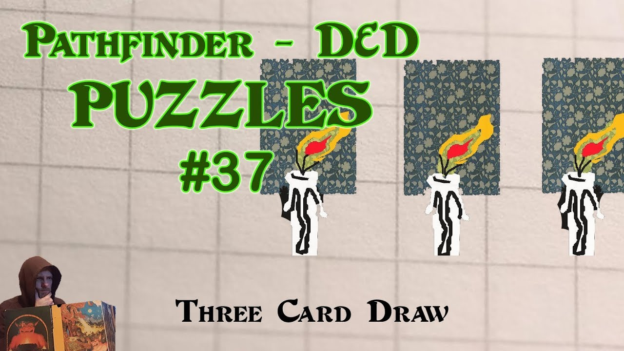 Pathfinder D&D Puzzles #37 - Three Card Draw