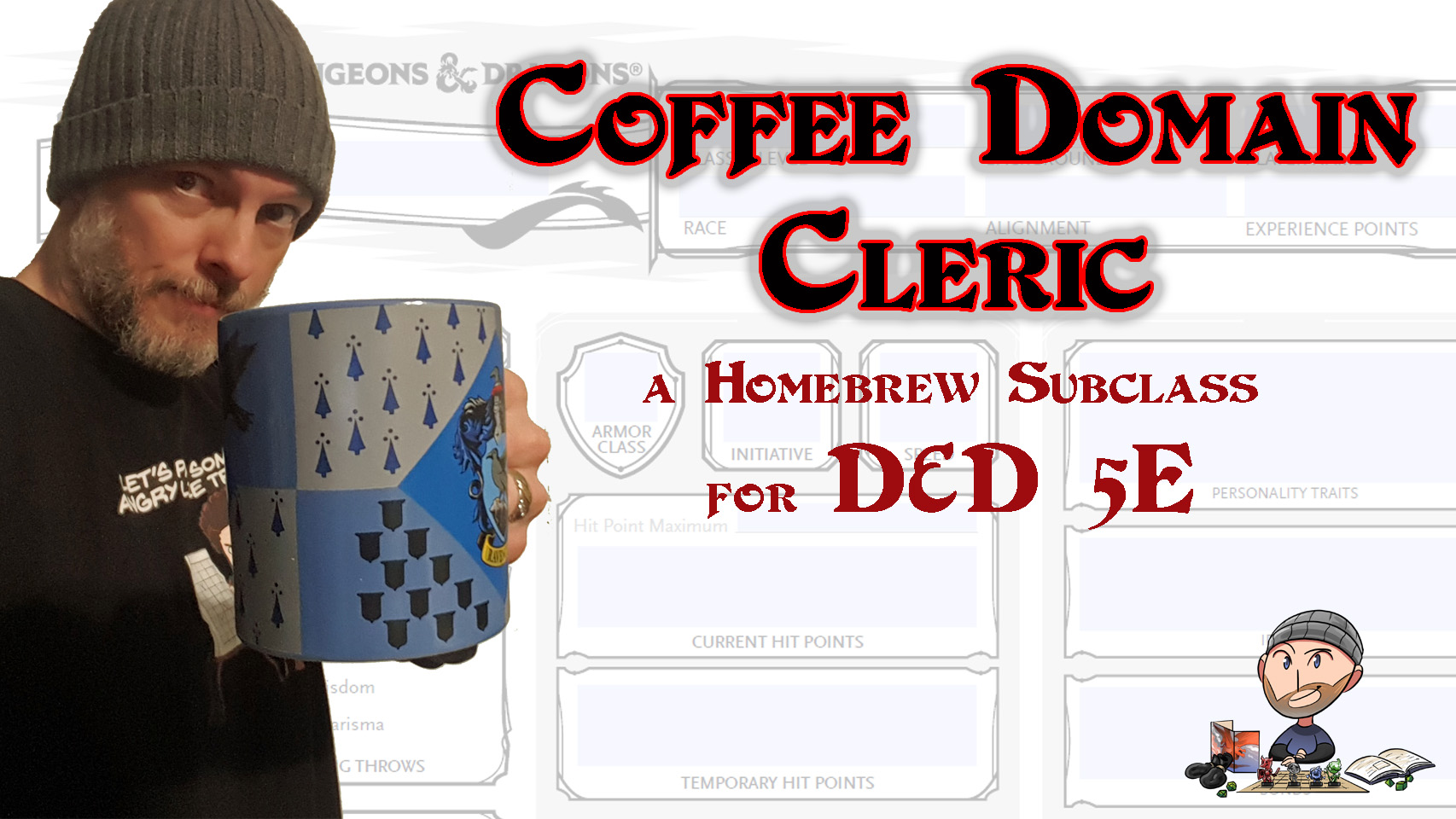 D&D 5E Coffee Domain Cleric Build – Homebrew Subclass – Wally DM