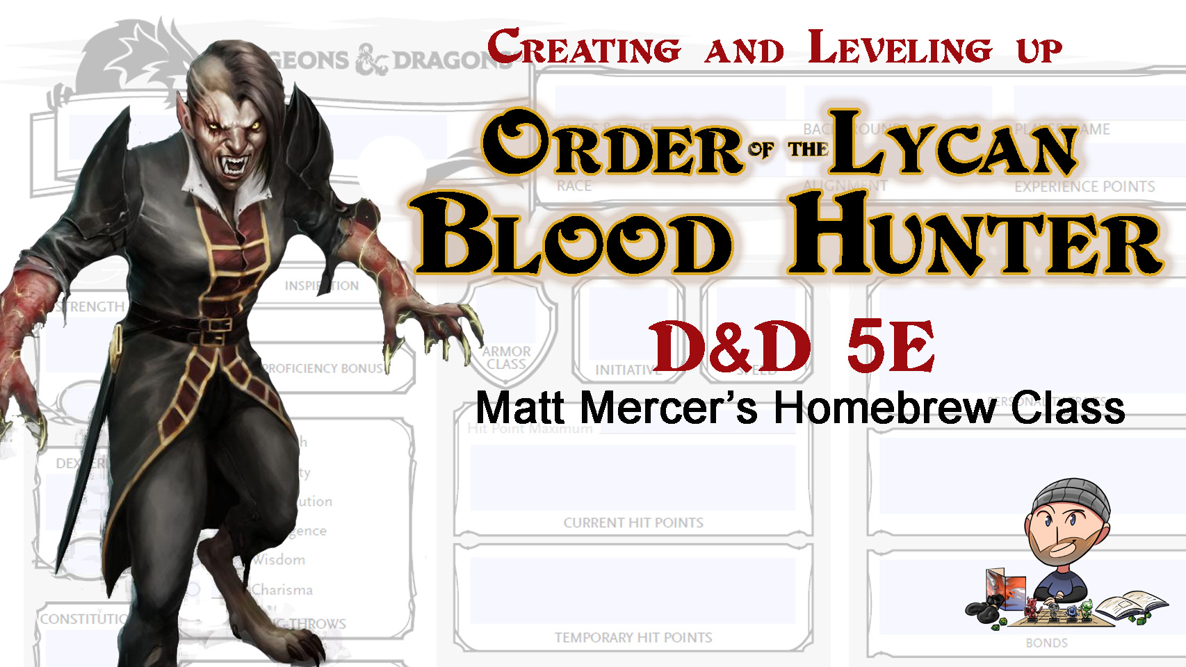 Order of the Lycan Blood Hunter Build 5E D&D